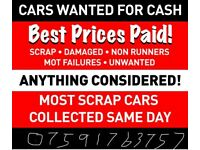 All scrap cars jeeps vans and Farm machinery wanted All conditions