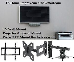 TV Wall Mount & Project Screen Mount - Free Estimate