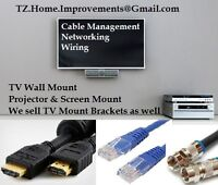 Network Cable Management - TV Wall Mount