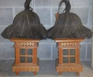 Garden Lamps,  Thatched Balinese - Matching Pair Rozelle Leichhardt Area Preview