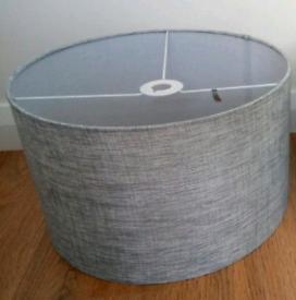 Silver grey light/lamp shade