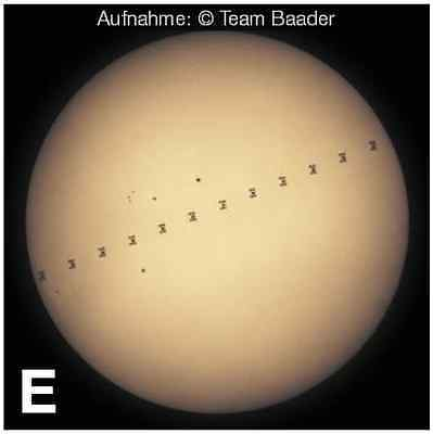 E: Sonne (Gesamtaufnahme)  F: Sonne (Detailaufnahme)
