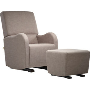 Dutailier Moderno Laki Upholstered Glider and Ottoman