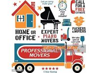 Man and Van Removals London House Office Moving Packing Clearance Piano Movers London Man with Van