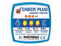 MARTINDALE CHECK PLUG SOCKET TESTER - NEAR NEW