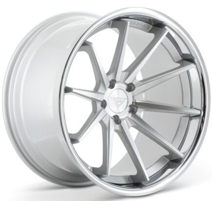 20x11.5 Ferrada Fr4 5x114 Et15 Machine Silver Wheels (set Of 4)