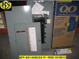PRICE DROP NEW! Square D QO140M200 200A Main Breaker Panel w/ Cover