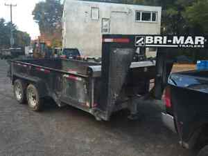 2014 Bri-Mar 7 x 14' Dump Trailer