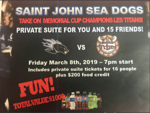 Sea Dogs Tickets - Private Suite