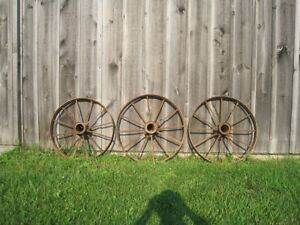 Antique Steel Wagon Wheels For Sale $65.00