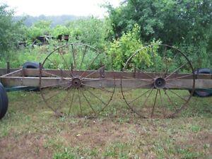 46 inch Antique Steel Farm Machinery Wheels