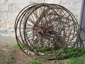 Large Antique Steel Farm Machinery Wheel