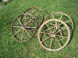 Antique Steel Wheel Barrow Wheels