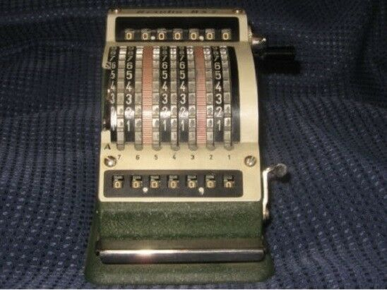 "VINTAGE Resulta 7 ""De Luxe Quiet"" Adding Machine MADE IN WEST GERMANY"