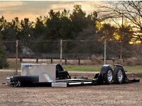 Air bagged trailer car transporter trailer