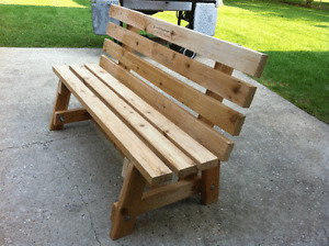 Wood Benches Finished or Unfinished