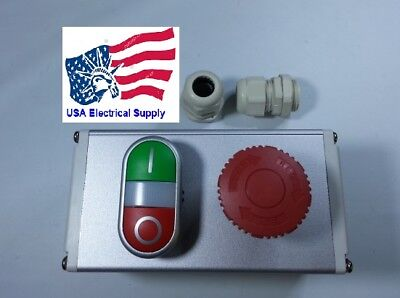 Metal Push Button Switch Station Emergency Start Stop Light 1224vacdc