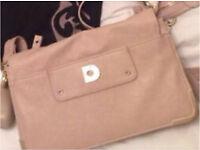 Mishap Barton Nude Peach Designer Handbag Large Clutch Bag RRP £89.99