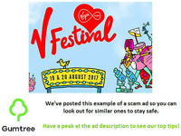 V festival tickets -- Read the ad description before replying!!