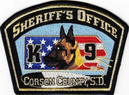 CORSON COUNTY CO SD SOUTH DAKOTA SHERIFF DEPT K9 K-9 CANINE DOG TEAM (FIRE)
