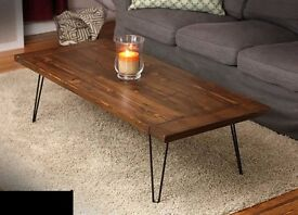 New Chunky Coffee Table Metal Legs 55cm x 160cm Free Delivery