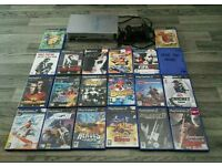 Playstation 2 Silver And 20 Games
