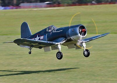 1/6  Scale F4U Corsair  84 inch wing Giant Scale RC AIrplane Printed Plans