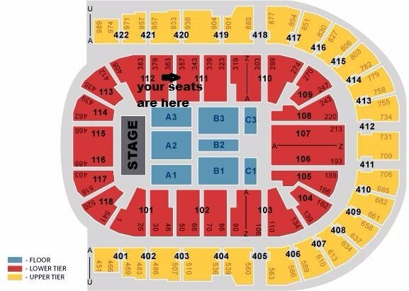 Olly murs tickets x3 great seats blk 111 row r o2 arena for 02 floor seating