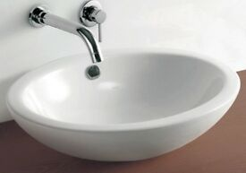 Counter Top Bathroom Oval Sink