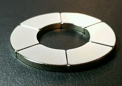 One Large Neodymium N52 Ring Magnet Strong Rare Earth 2 Healing Star Of David