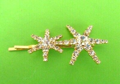 Signed Jennifer Behr Double Star Statement Hair Pin