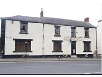 Land with former pub on premises - ideal for demolition and use as car wash