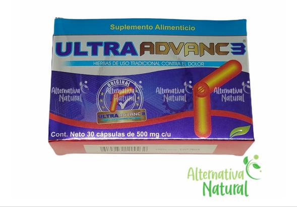 ULTRA ADVANC 3 -Ortiga Omega 3 Curcuma Ajo Jengibre Calcio Coral Shark Cartilage