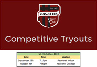 Ancaster Titans U14 Girls (Born 2004) Rep. Soccer Tryouts