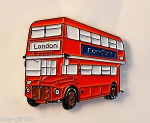 LONDON ROUTEMASTER RED BUS COACH ENAMEL PIN BADGE 4 JACKET HAT/BIRTHDAY GIFT