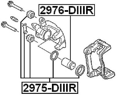 FEBEST 2976-DIIIR Rear Brake Cylinder Piston