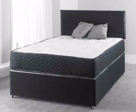 💖100% GUARANTEED PRICE!💖BRAND NEW-Single/Double Divan Bed With 11 Thick Full Orthopaedic Mattress