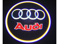 2 x AUDI 3D COB LED DOOR LOGO COURTESY LIGHT LASER GHOST PROJECTOR SHADOW PUDDLE LAMPS
