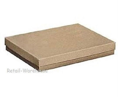 100 Kraft Cotton Filled Retail Gift Merchandise Jewelry Boxes 7 X 5 12 X 1 75