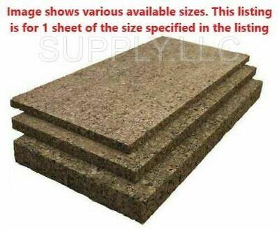 "12"" x 36"" Cork Board Sheet Stock 1"" Thick Insulation Semi Rigid Naturally Dark"
