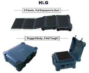 Solar & A/C Rechargeable Power Generator 50 Watt Folding Panels!