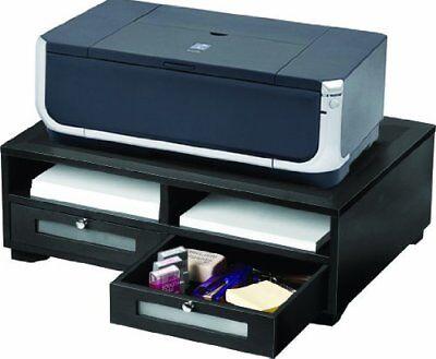 Victor Midnight Black Printer Stand - 2 X Shelfves - 7.8 Height X 21.8 Width