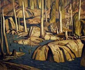 "A.J. Casson ""Backwater"" Lithograph - Appraised at $1400"