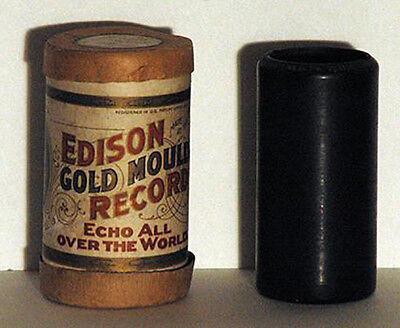 Antique Original Thomas Edison Gold Moulded Cylinder Record 9515 Duet When Bob W