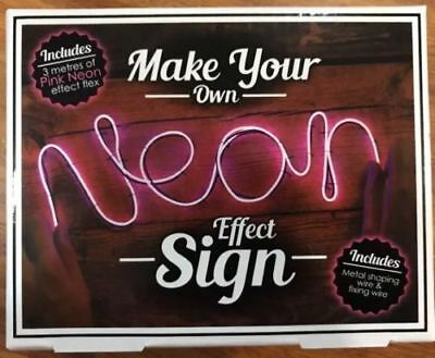BRAND NEW! Make Your Own Neon Effect Sign Kit (Make Your Own Neon Effect Sign Kit)