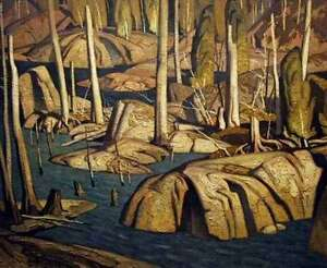 """Limited Edition """"Backwater"""" by A.J. Casson appraised at $1100"""