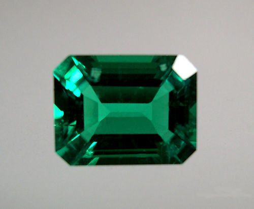 Lab Created Hydrothermal Emerald Green Octagon Faceted Loose Stone (4x2-16x12mm)