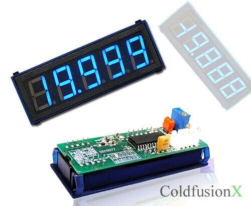 4-1/2 Blue LED DC 200V Digital Volt Voltage Panel Meter