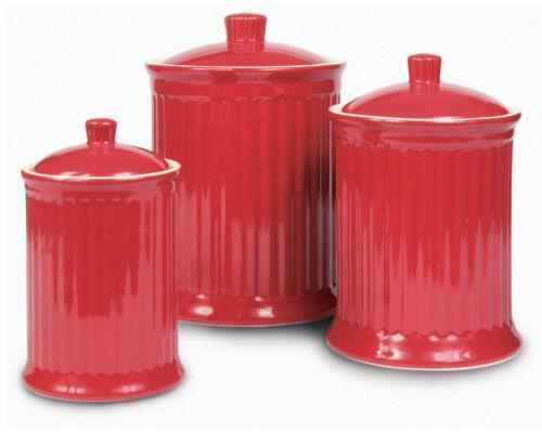 Red Canister Set Ebay