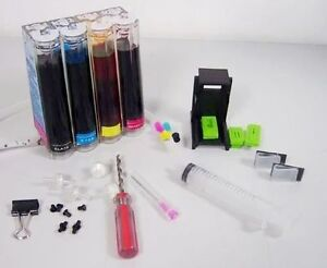 DIY CISS Continuous Ink Supply System FOR HP 4 Colours Printer